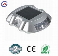 Aluminum solar marker lights for trucks driveway side road stud cat eye