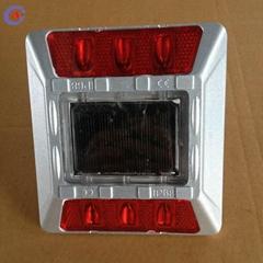 2way 6pcs without stem solar led flashing reflective road stud cat eyes