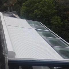 供应玻璃顶金属卷帘天幕帘平移卷帘窗隔热防晒卷帘窗