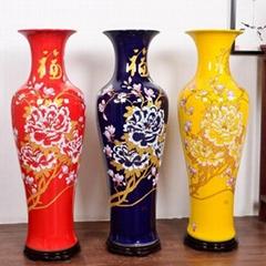 海南陶瓷大花瓶落地大花瓶定做定制