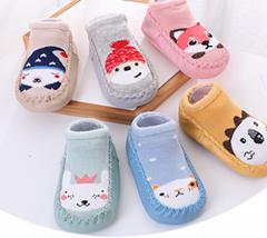 newborn 3D cartoon funny cute baby girl organic cotton rubber bottom baby socks