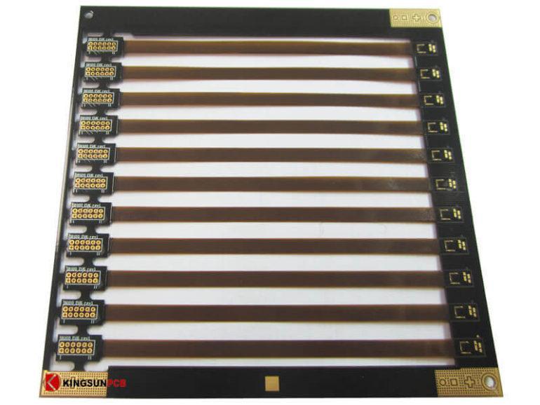 Rigid-flex PCB connector 1