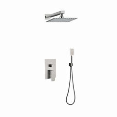 SUS304 Stainless Steel Concealed Bath Shower Mixer in Wall Shower Faucet