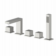 SS304 Stainless Steel Singe Handle Deck Mounted Bathtub Shower Faucet Set