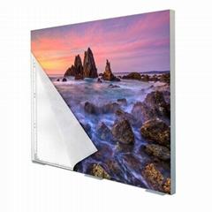 厂家订做无边框超薄UV软膜天花吊顶LED卡布灯箱