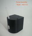 small liquid peristaltic pump assembly