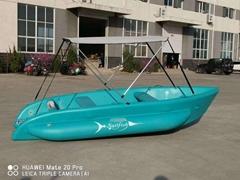 橡皮艇加厚硬底钓鱼船充气船皮划艇冲锋舟气垫船可挂马达