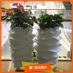 商業廣場辦公家居別墅酒店裝飾玻璃鋼花盆花缸