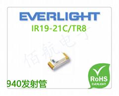 IR19-21C/TR8亿光电子红外线发射管IR19-21C/TR8 0603接收管940nm