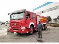 16tons Howo 10 wheel Fire Engine 13000Liters Water 3000liters foam Tanker Fire F