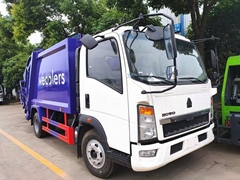 Sinotruck HOWO 8CBM RHD Garbage Compactor Truck Compressed Waste Truck with Chao