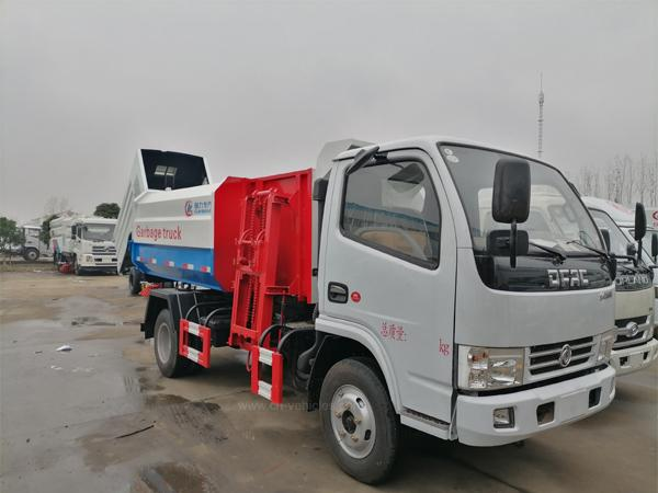Dongfeng 3 ton to 22ton Side Load Garbage Truck With Lift System For Transport F 1