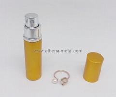 Travel spary perfume bottle 5ml with jewelry Ring decoration