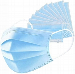 Stock disposable face safe mask 3-ply with earloop