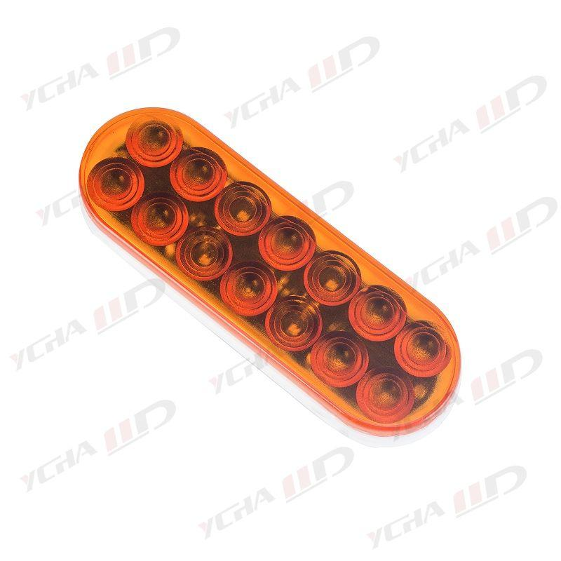 "LED trailer 6"" Oval Stop/Parking/Turn Signals/Tail Light amber 1"