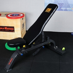 啞鈴凳家用健身多功能收腹專業飛鳥凳健身房商用器材臥推舉重平凳