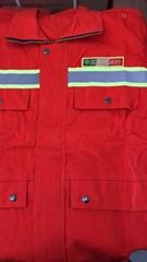 森林防火個人裝備全棉阻燃服林昊LS-26桔紅阻燃服