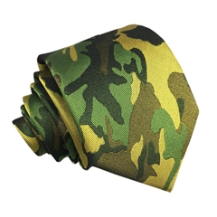 Handmade Classic Army Camouflage Silk Woven Military Necktie