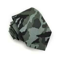 Handmade Men 100% Cotton Print Military Slim Skinny Handmade Camouflage Necktie