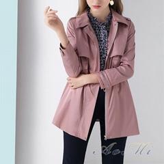 Spring and autumn pink short windbreaker fashion wild coat AOMI-K001