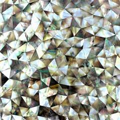 三角形黑蝶貝母馬賽克復合板