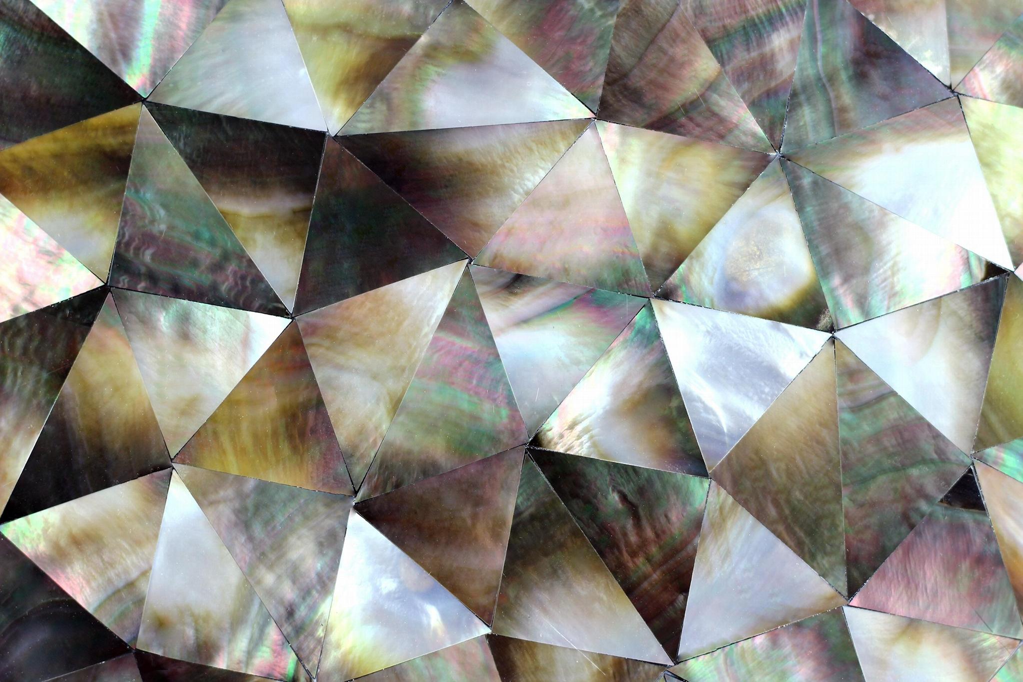 三角形黑蝶贝母马赛克复合板 3