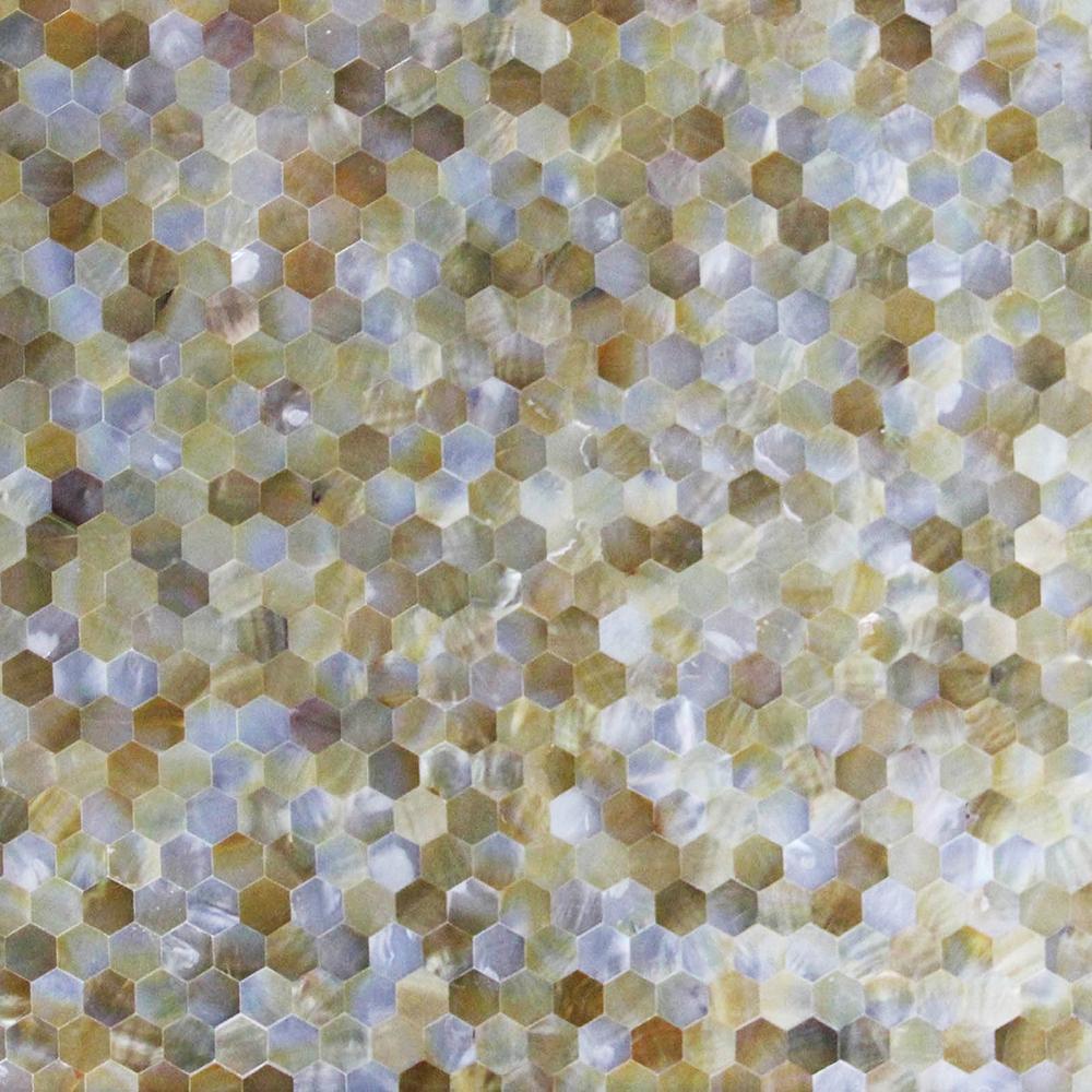 多边形黄海贝马赛克装饰家具面板 1