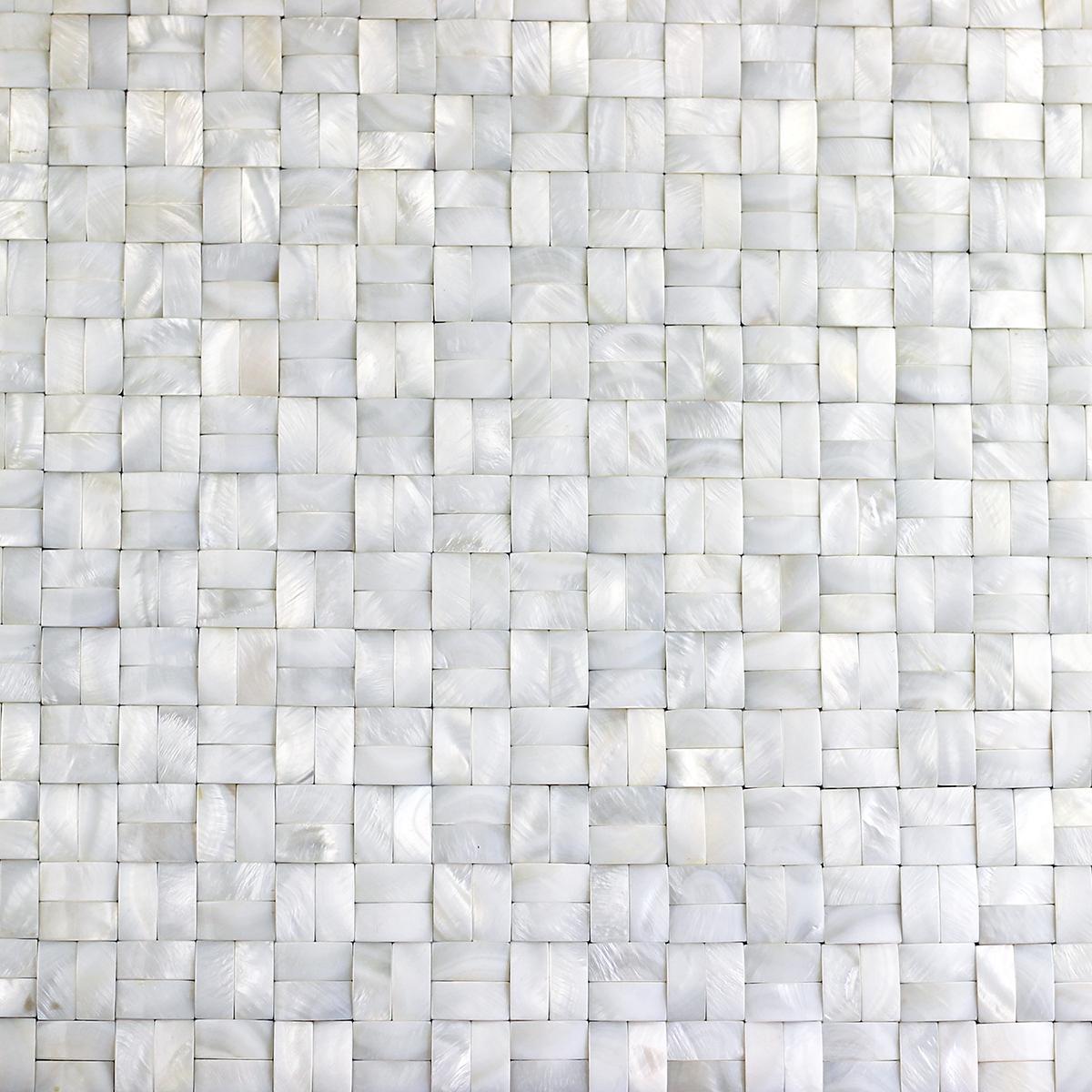 背网等字拼3D面纯白珍珠贝母马赛克 1