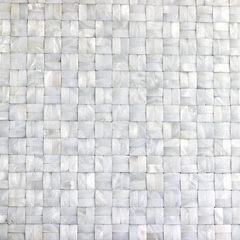 背网等字拼3D面纯白珍珠贝母马赛克