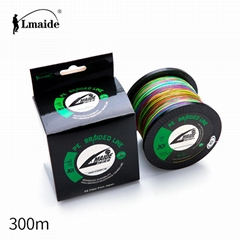300m Wholesale price PE colourful braided wire 8x colourful braided fishing line
