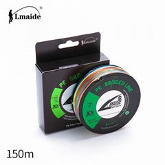 150m Wholesale price PE colourful braided wire 8x colourfu braided fishing line