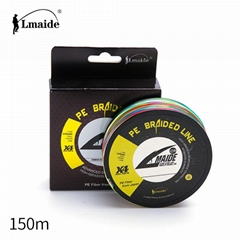 Wholesale price PE colourful braided wire 4x colourful fishing line