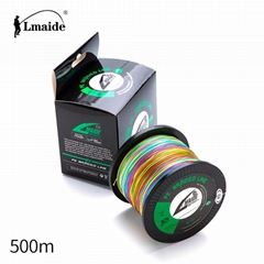 500m Wholesale price PE colourful braided wire 8x colourful braided fishing line