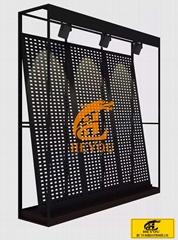 斜靠式冲孔板展示架可拼接尺寸可定制