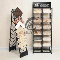 雙面挂鉤木地板樣品展示架