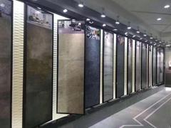 立式單面雙面瓷磚展架商品陳列挂鉤木地板展示架