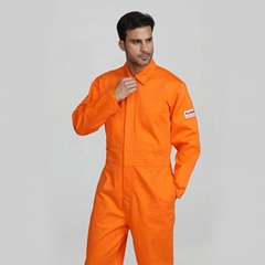Customizable men's welding long sleeve coverall