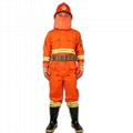 Orange forest fireman flame retardant