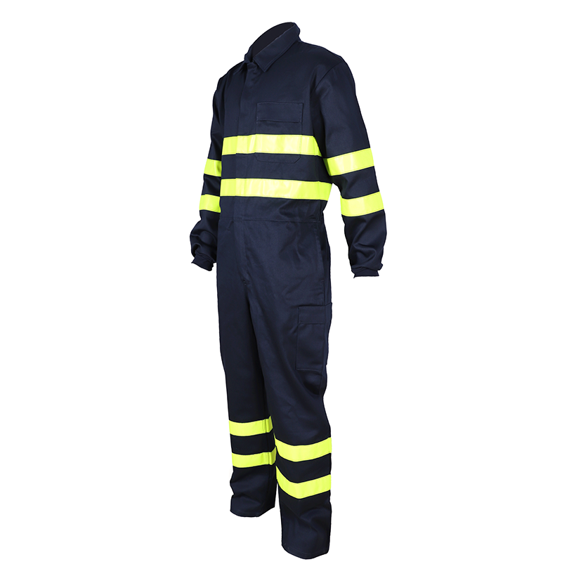 Offshore Anti-flame work coveralls with reflective tape 2