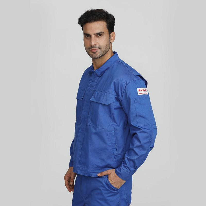 Blue men's industrial fire resistant security protective jackets 1