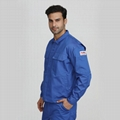 Blue men's industrial fire resistant
