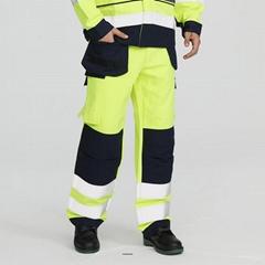 Hi -Vis flame retardant cargo pants for men