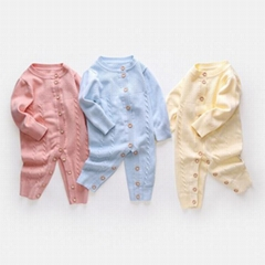 High quality baby girl rompers 100% cotton baby clothing set with cardigan