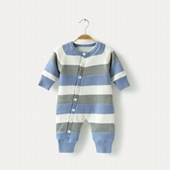 knitted newborn 100% cotton baby rompers infant toddlers clothing pajama romper