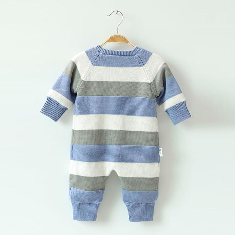 knitted newborn 100% cotton baby rompers infant toddlers clothing pajama romper  2