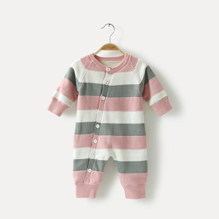 knitted newborn 100% cotton baby rompers infant toddlers clothing pajama romper  3