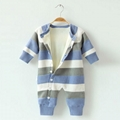 knitted newborn 100% cotton baby rompers infant toddlers clothing pajama romper  5