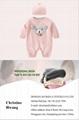 wholesale cute baby jumpsuit cotton pink