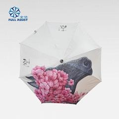 經典款式木中棒彩印廣告傘