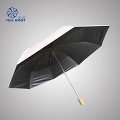 高檔鈦銀布三折廣告傘